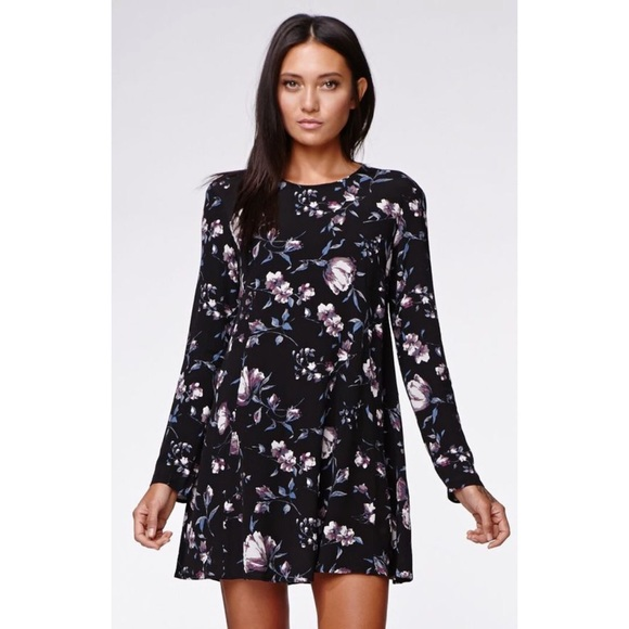Kendall & Kylie Dresses & Skirts - Kendall & Kylie Floral Baby Doll Dress Long Sleeve